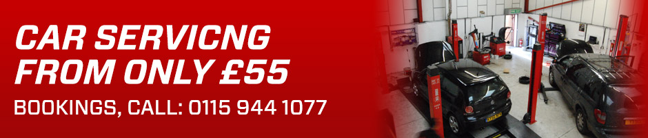 Car Servicing in Ilkeston and Nottingham from only £55